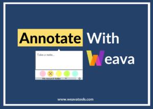 Weava Onboarding: Annotate