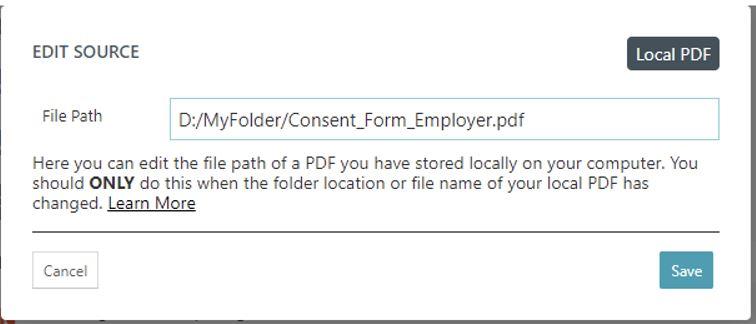 Local PDF my folder