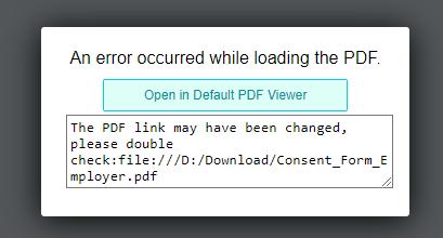 PDF error example
