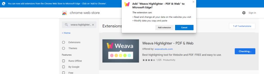 Enable Permissions - Weava with Microsoft Edge