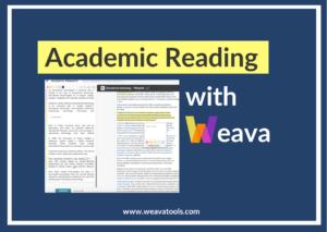 Academic Reading with Weava