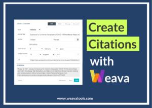 Create Citations with Weava