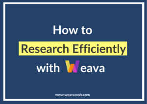 How to Research Efficiently